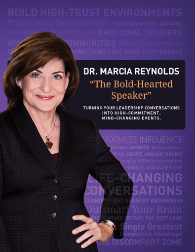 Dr. Marcia Reynolds - The Bold-hearted Speaker press kit cover